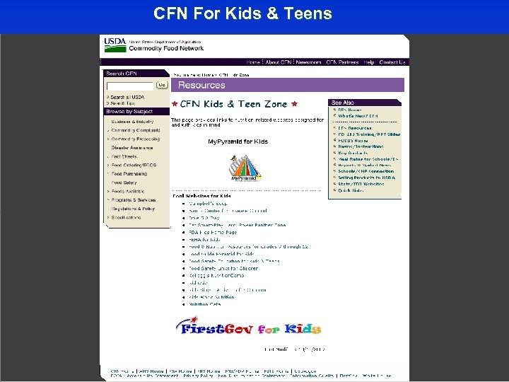 CFN For Kids & Teens