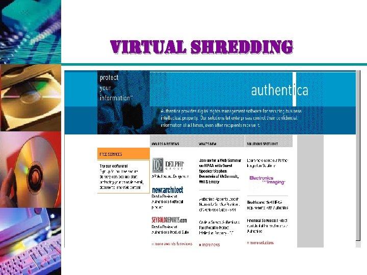 virtual shredding