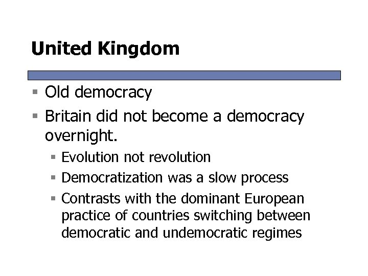 """britain becoming a democracy essay example Below is an essay on how democratic was britain by 1928 from anti essays, your source for research papers, essays, and term paper examples how democratic was britain by 1928 democracy is a system of government """"of the people, by the people, for the people"""" (abraham lincoln."""