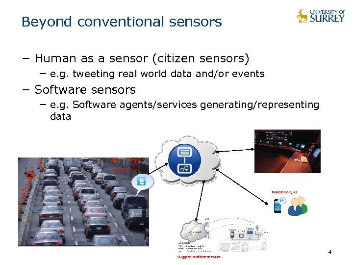 Beyond conventional sensors − Human as a sensor (citizen sensors) − e. g. tweeting