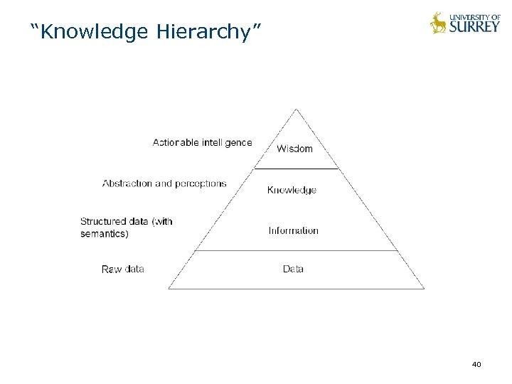 """""""Knowledge Hierarchy"""" 40"""