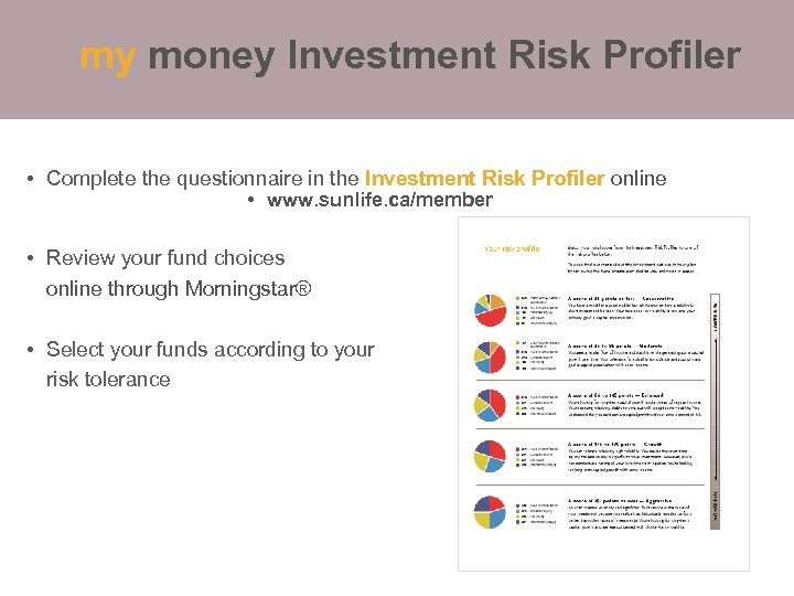 my money Investment Risk Profiler Your guide to choosing funds • Complete the questionnaire