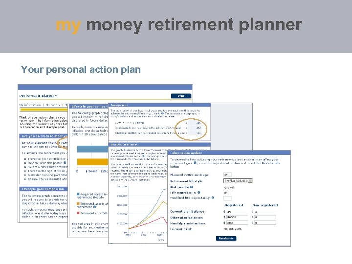 my money retirement planner Your personal action plan