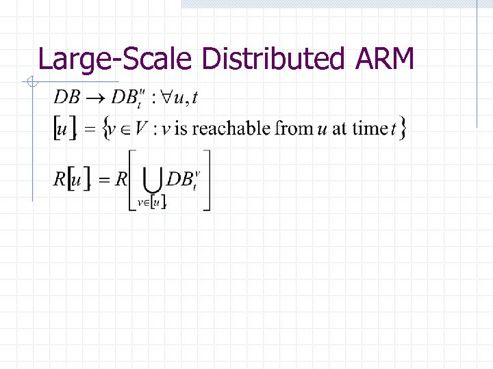Large-Scale Distributed ARM