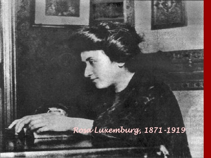 Rosa Luxemburg, 1871 -1919