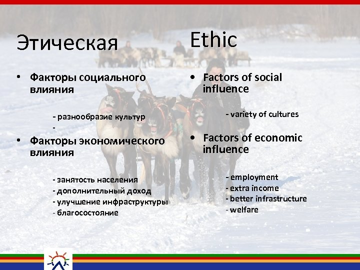 Этическая Ethic • Факторы социального влияния • Factors of social influence - разнообразие культур