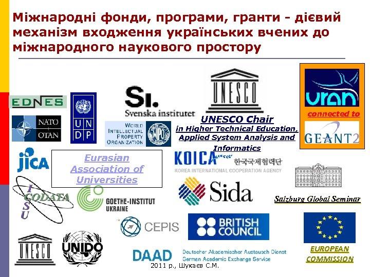 Міжнародні фонди, програми, гранти - дієвий механізм входження українських вчених до міжнародного наукового простору