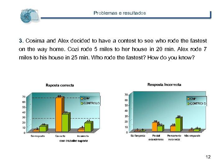Problemas e resultados 3. Cosima and Alex decided to have a contest to see
