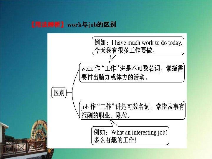 【用法辨析】work与job的区别