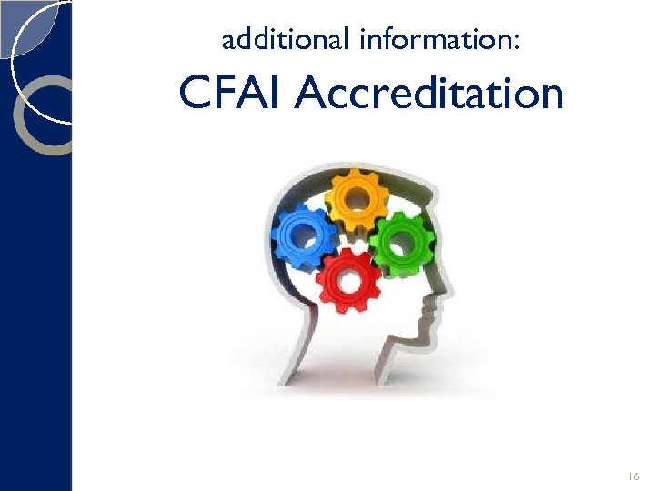 additional information: CFAI Accreditation 16