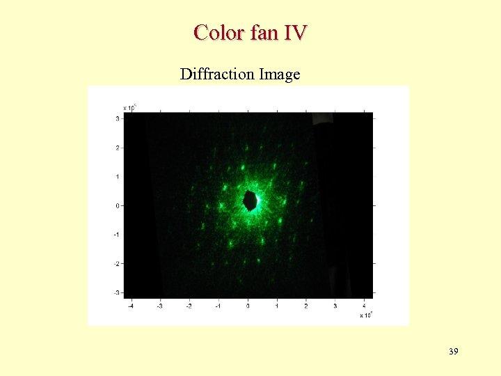 Color fan IV Diffraction Image 39