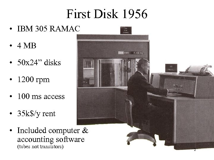 "First Disk 1956 • IBM 305 RAMAC • 4 MB • 50 x 24"""
