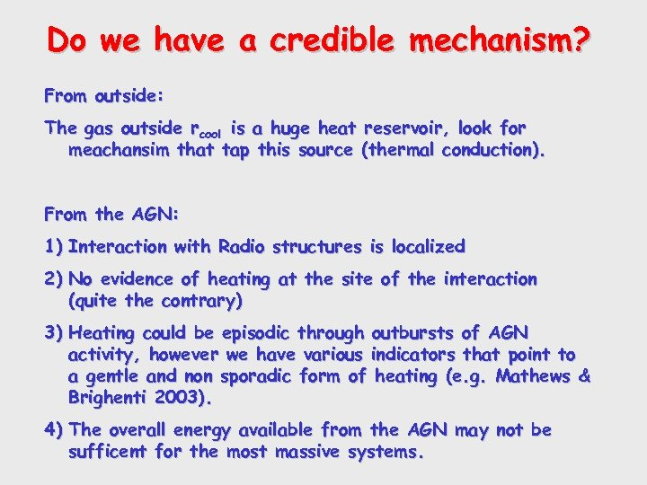 Do we have a credible mechanism? From outside: The gas outside rcool is a