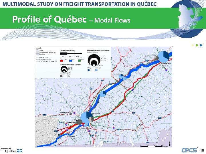 Profile of Québec – Modal Flows 10