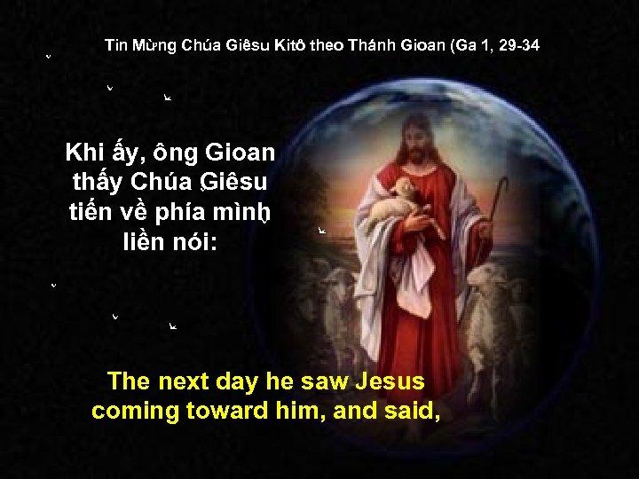 Tin Mừng Chúa Giêsu Kitô theo Thánh Gioan (Ga 1, 29 -34) Khi ấy,
