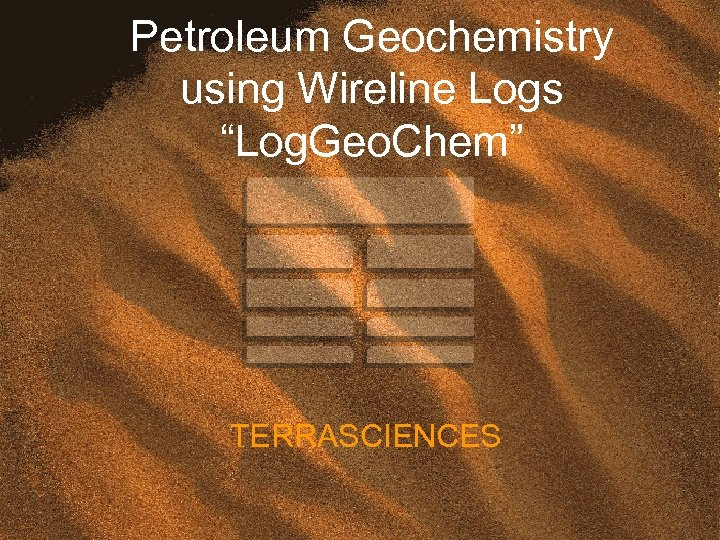 "Petroleum Geochemistry using Wireline Logs ""Log. Geo. Chem"" TERRASCIENCES"
