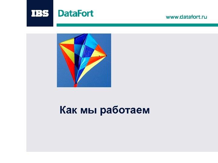 www. datafort. ru Как мы работаем