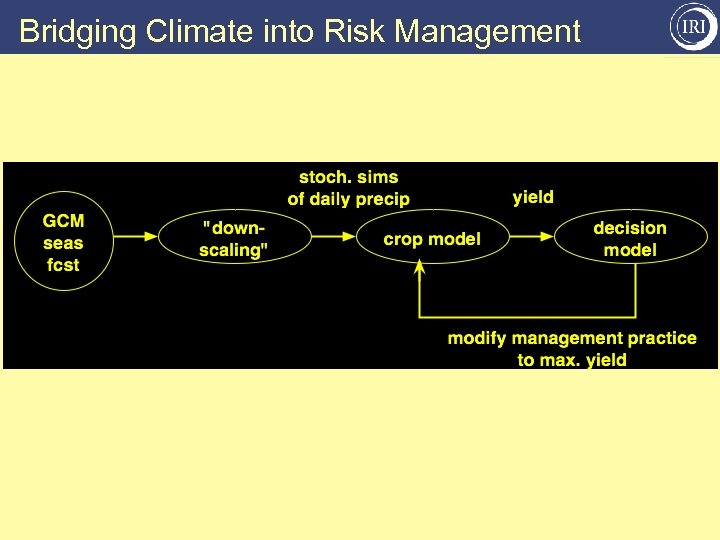 Bridging Climate into Risk Management