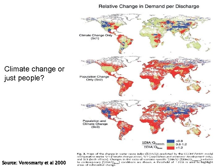 Climate change or just people? Source: Vorosmarty et al 2000