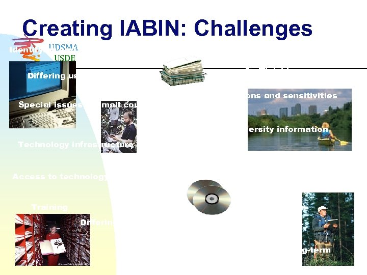 Creating IABIN: Challenges UDSMA Identifying and narrowing objectives USDE Intellectual property rights 5 official