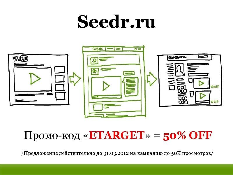 Seedr. ru Промо-код «ETARGET» = 50% OFF /Предложение действительно до 31. 03. 2012 на