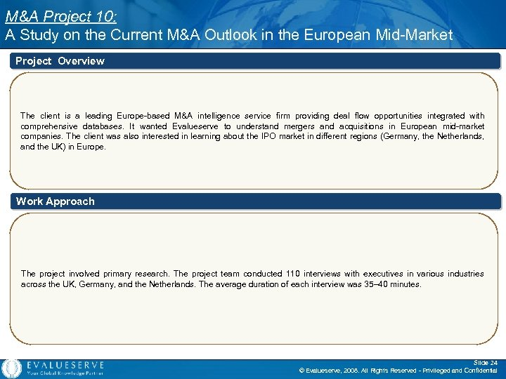 M&A Project 10: A Study on the Current M&A Outlook in the European Mid-Market