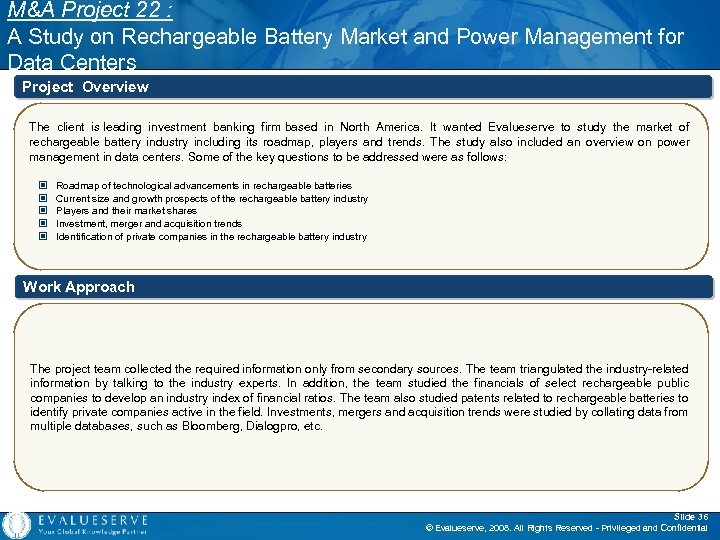 M&A Project 22 : A Study on Rechargeable Battery Market and Power Management for