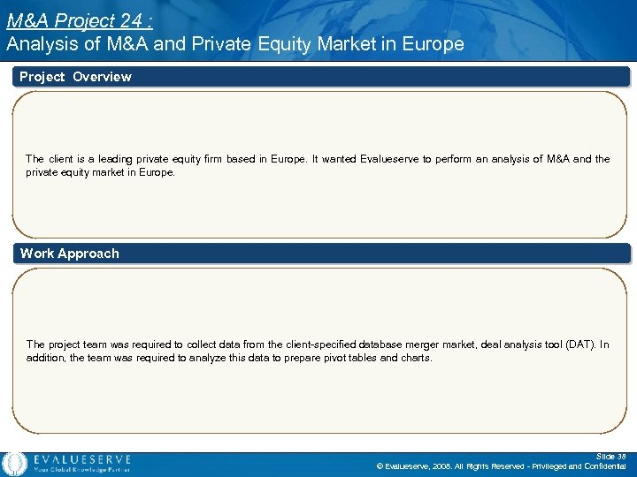M&A Project 24 : Analysis of M&A and Private Equity Market in Europe Project