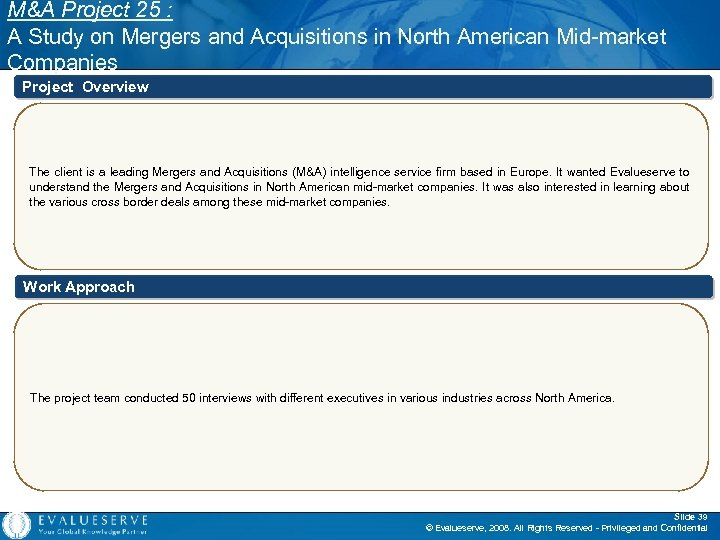 M&A Project 25 : A Study on Mergers and Acquisitions in North American Mid-market