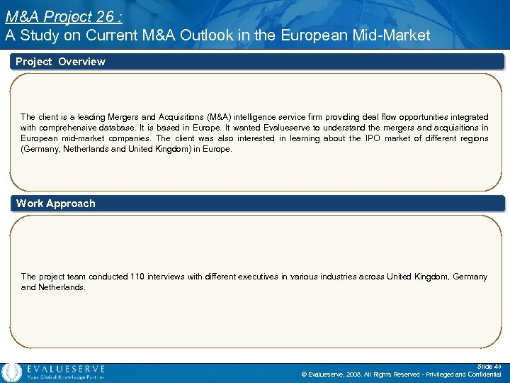 M&A Project 26 : A Study on Current M&A Outlook in the European Mid-Market
