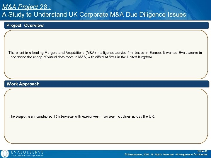 M&A Project 28 : A Study to Understand UK Corporate M&A Due Diligence Issues