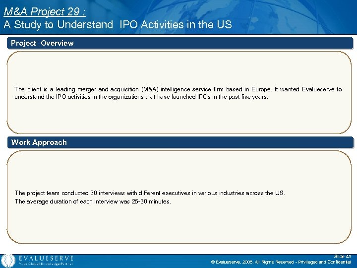M&A Project 29 : A Study to Understand IPO Activities in the US Project