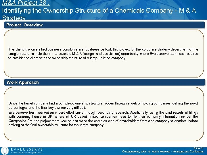 M&A Project 38 : Identifying the Ownership Structure of a Chemicals Company - M