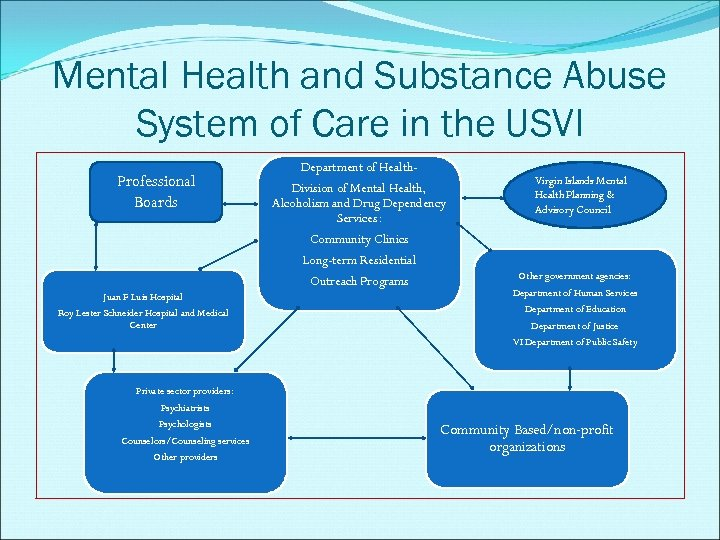 Mental Health and Substance Abuse System of Care in the USVI Professional Boards Juan