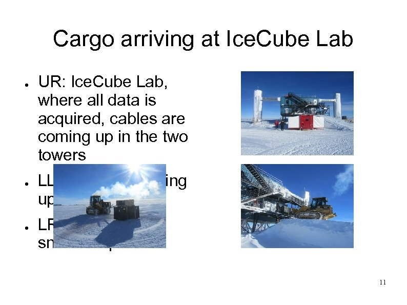 Cargo arriving at Ice. Cube Lab ● ● ● UR: Ice. Cube Lab, where