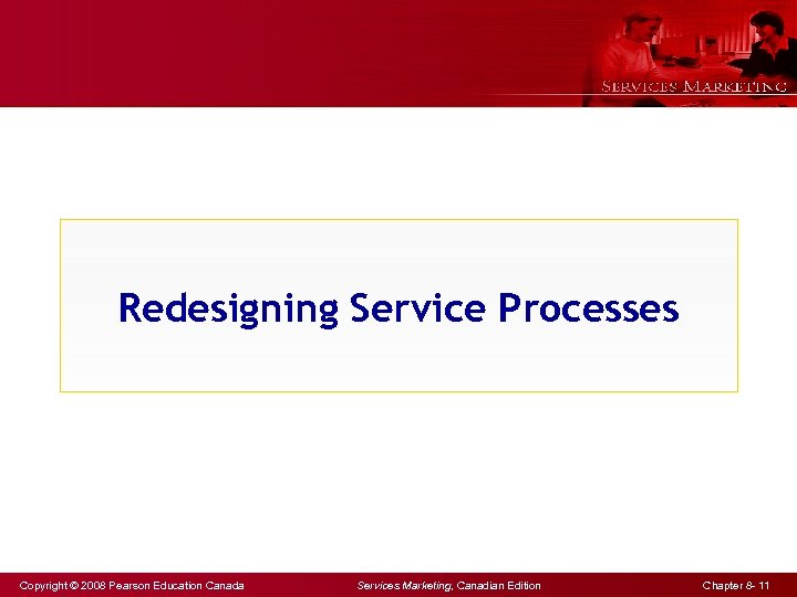 Redesigning Service Processes Copyright © 2008 Pearson Education Canada Services Marketing, Canadian Edition Chapter