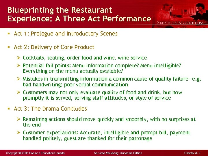 Blueprinting the Restaurant Experience: A Three Act Performance § Act 1: Prologue and Introductory
