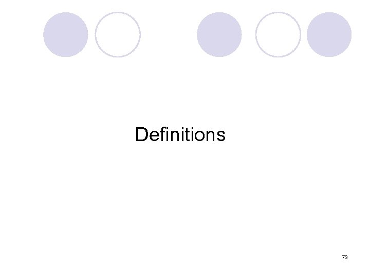 Definitions 73