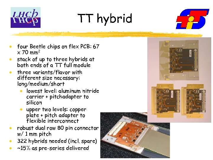 TT hybrid four Beetle chips on flex PCB: 67 x 70 mm 2 stack