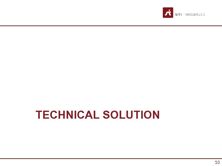 TECHNICAL SOLUTION 10