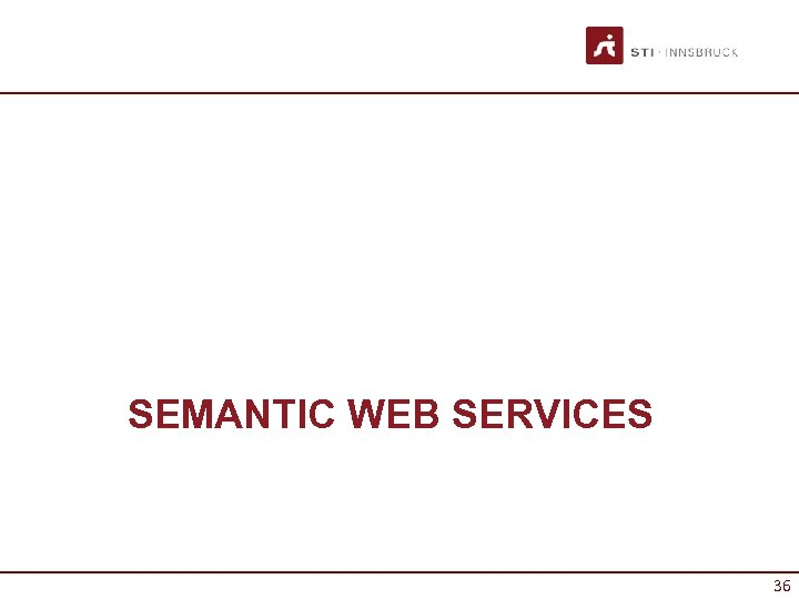 SEMANTIC WEB SERVICES 36