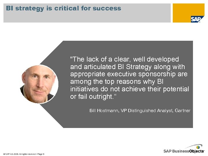 BI strategy is critical for success