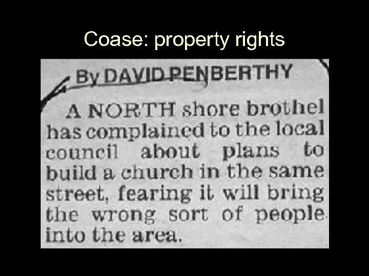 Coase: property rights