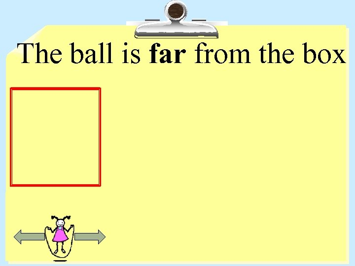 The ball is far from the box