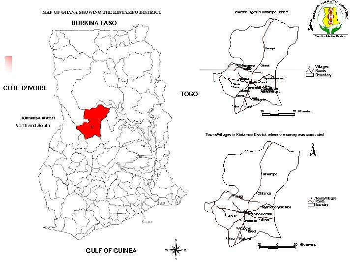 Towns/Villages in Kintampo District N BURKINA FASO # Yaara Gbuongyonga # ## # Tuffobi
