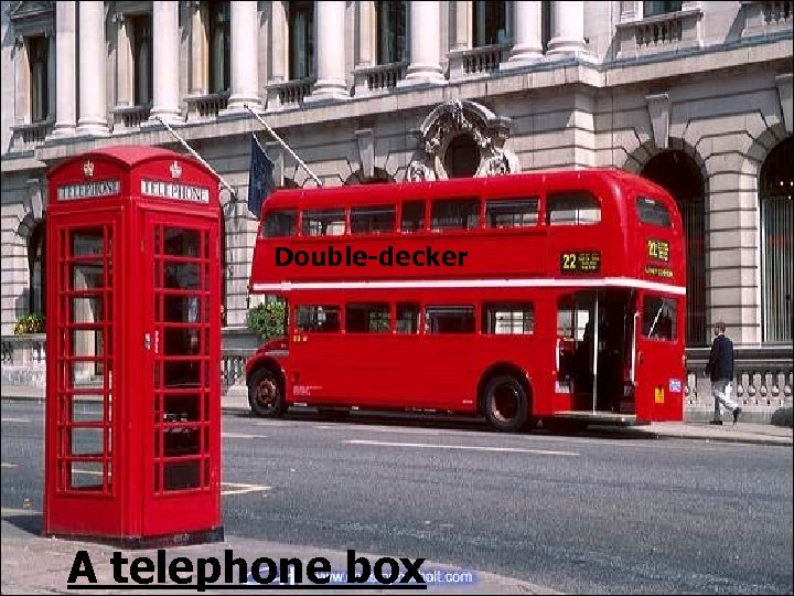 Double-decker A telephone box