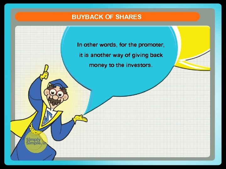buyback of shares essay Buyback of shares in india essay buy-back of shares 1 companies act, 1956: section 77a of the companies act lays down the conditions governing buy-back of shares by a company.