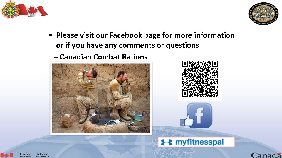 • Please visit our Facebook page for more information or if you have