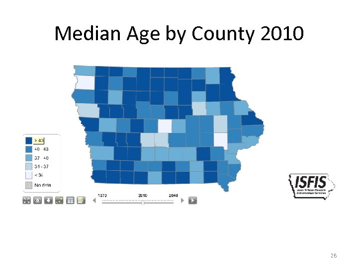 Median Age by County 2010 26