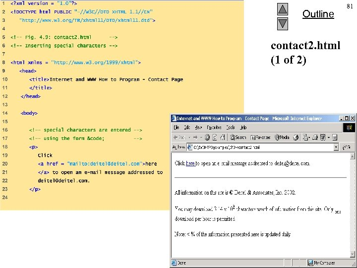 Outline contact 2. html (1 of 2) 2002 Prentice Hall. All rights reserved. 81